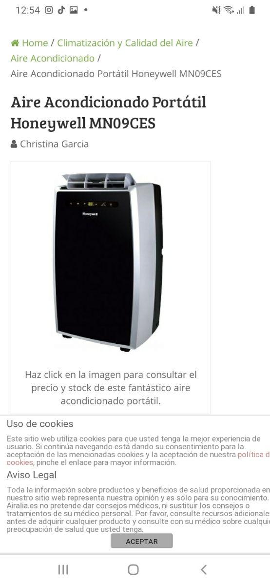 aire acondicionado portátil HONEYWELL