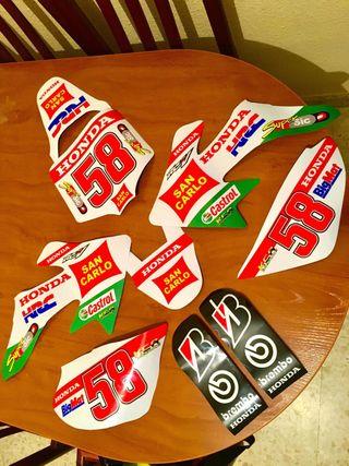Kit adhesivos Crf50 Marco Simoncelli MotoGP