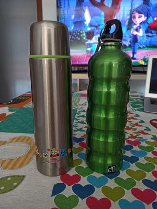 Termo líquidos Prenatal + botella agua mamá/papá