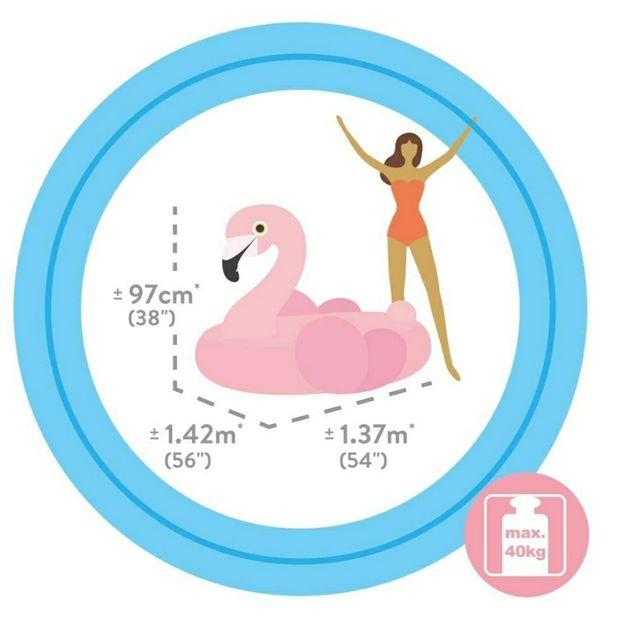 Flamenco hinchable 142x137x97 cm
