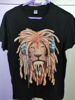 Camiseta León rasta