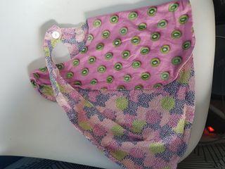 Peto/ vestido cruzado reversible bebe de 9 a 12m