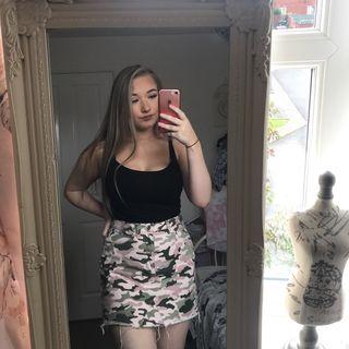 denim camouflage skirt