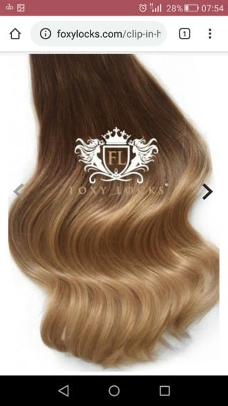 Brand New Foxylocks human hair extensions 18""