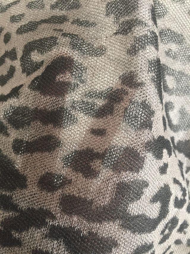 Jersey animal print organza