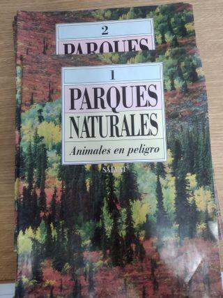 13 fascículos Colección Parques naturales-Salvat