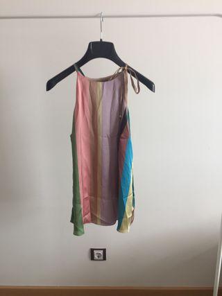 Camisa raso rayas colores