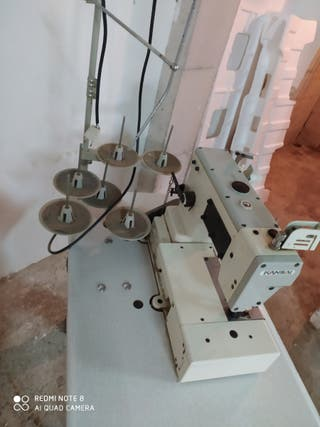 Máquina de coser industrial plana recubridora