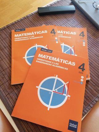 Libros 4° ESO IES Profesor Domínguez Ortiz