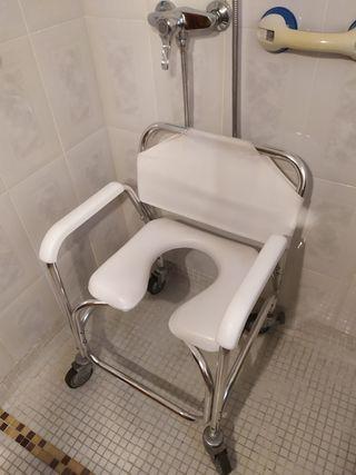 Silla para ducha y WC