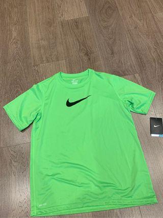 Camisetas Nike verde de deporte talla XL (nuevo)