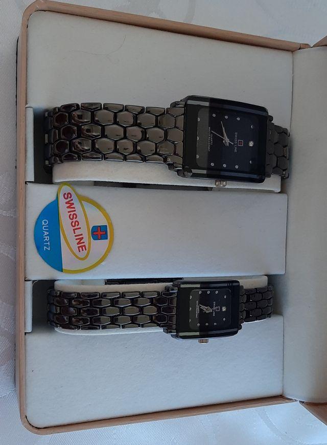 Relojes conjunto Swiss Line , 5932 water resistent
