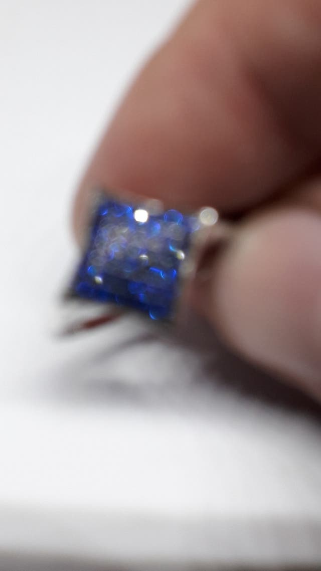 Fashion 0.35ct Created Blue Spinel Ring