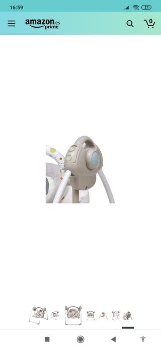 Hamaca mecedora eléctrica para bebés. 6 velocidads