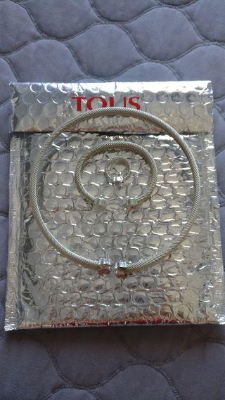 Conjunto gargantilla, pulsera y anillo de Tous