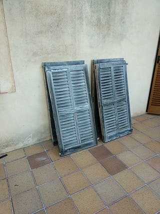 Persianas Mallorquinas (4 persianas) madera