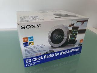 Radio Despertador Sony para iPod & iPhone