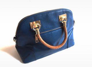 NUEVO Bolso azul de la marca D'Dona con correas