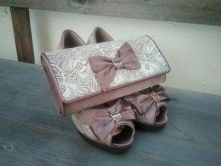 Zapatos de fiesta y bolso de mano *talla 35*