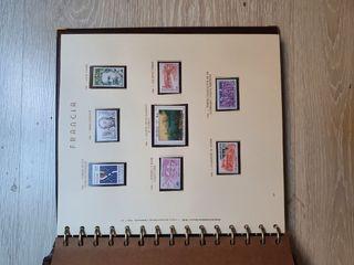 Álbum de sellos Francia 1982-1989