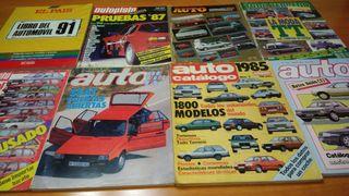 Lote 8 revistas de automóviles de los 80's