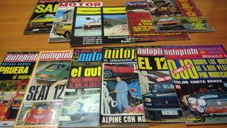 Lote revistas Autopista y varias,principios 70's