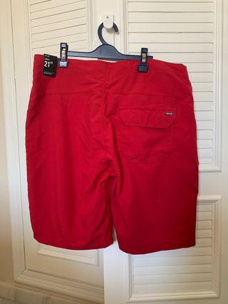 (Nuevo) Bañador Rojo Hurley Talla 31