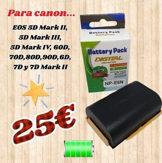 baterias para camaras canon LP-E6N