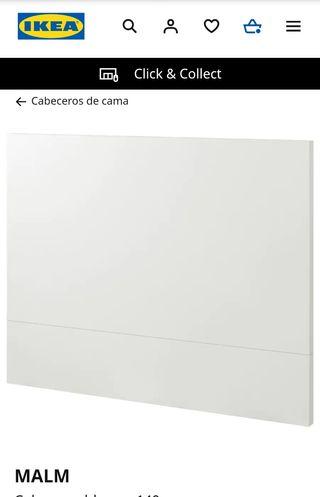 Cabecero MALM Ikea 140 pintado