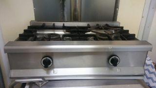 Cocina industrial 2 fogones butano