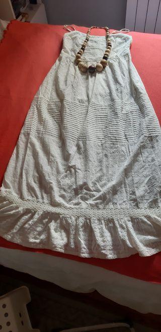 Vestido Ibicenco, blanco marfil