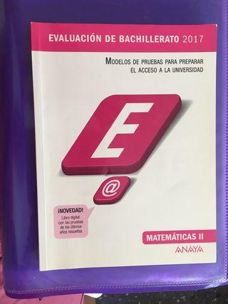 EVALUACIÓN DE BACHILLERATO 2017 MATEMATICAS II