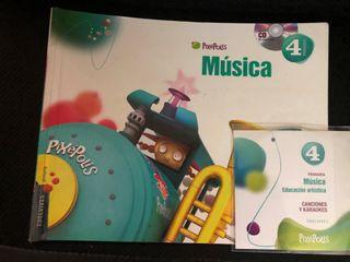 Libro Música 4 Primaria. Edelvives. Superpixépolis