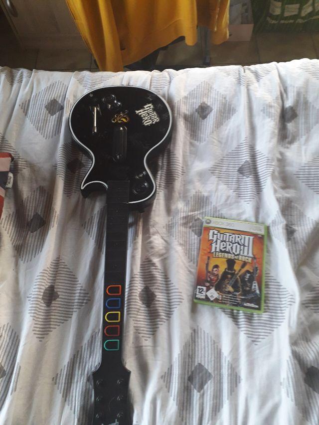 jeux et guitare héro xbox 360