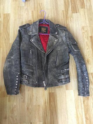 Cazadora cuero rock moto / leather vintage Biker