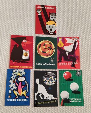 Postales Conmemoración Lotería Nal. 1958-66