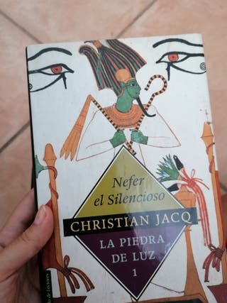 Colección libros Egipto, autor Christian Jacq