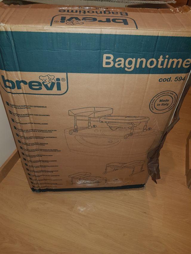 Bañera cambiador bebe Brevi Bagnotime