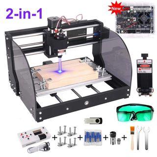 maquina CNC fresadora y laser
