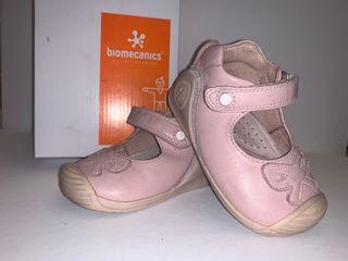 Zapatos merceditas BIOMECANICS bebe niña rosa