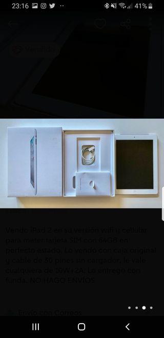 iPad 2 cellular wifi 64gb
