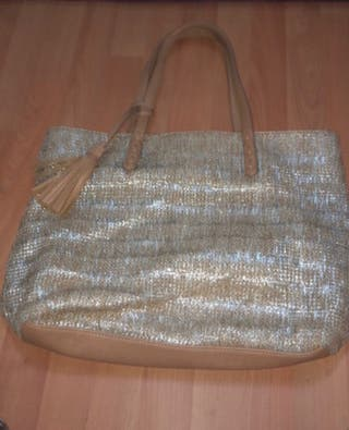 Glitter and brown bag