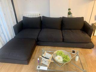 Sofa chaise longue de plumas (kibuc)