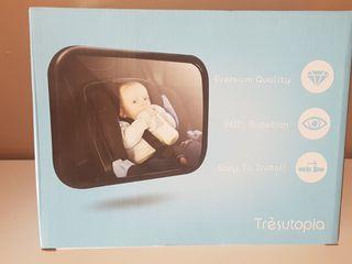 Espejo vigila bebes para coche