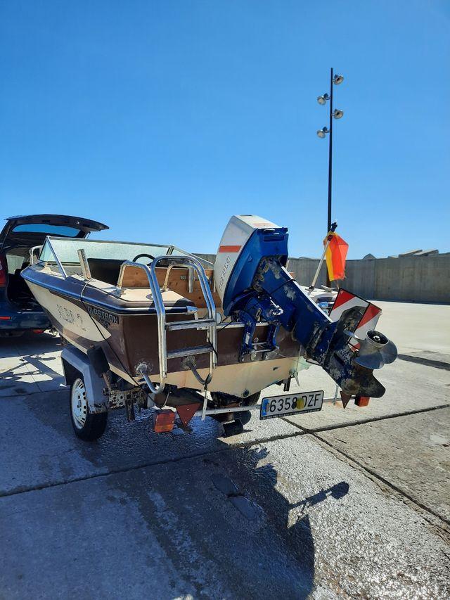 barco + motor + remolque