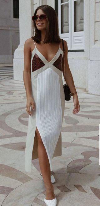 vestido lencero plisado ZARA