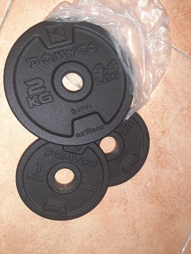 Disco pesas gym kit mancuernas discos