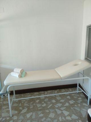 Camilla de masaje blanca