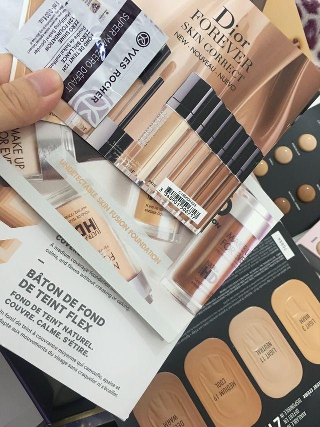 Lote de muestra maquillaje