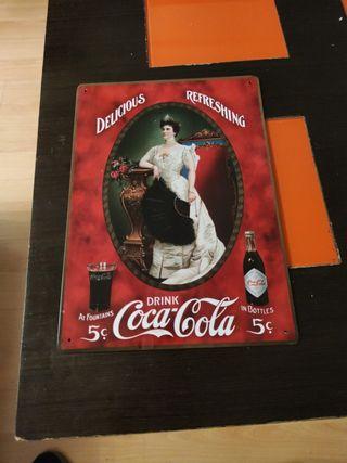 Chapa reproducción publicidad de Coca-Cola
